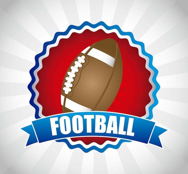 灰色の背景にアメリカのサッカーベクトル図