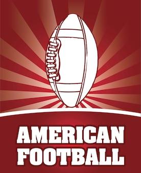 アメリカ、サッカー、赤、背景、ベクトル、イラスト