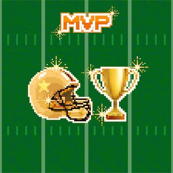 American football pixel