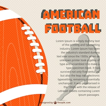 Американский шаблон футбол вектор