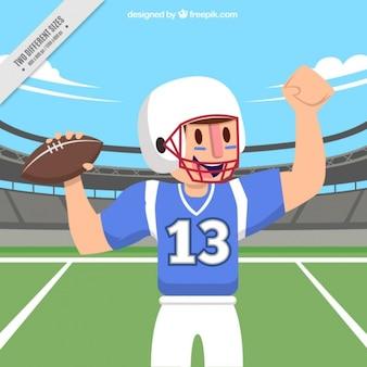 アメリカンフットボール選手の背景
