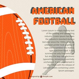 American football player and ball
