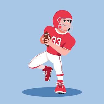 American football player running man