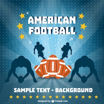American football players background
