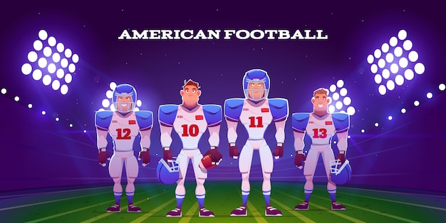 Giocatori di football americano illustrati