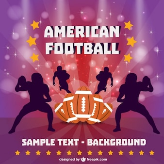 American football players silhouettes and balls