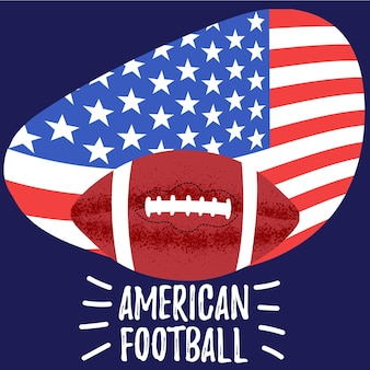 American football poster rugby ball