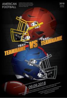 アメリカンフットボールのポスターのベクトル図