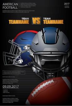 Американский футбол плакат векторная иллюстрация