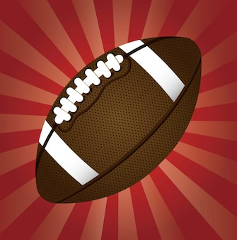 American football over red background vector illustration