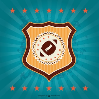 Американский футбол эмблема ретро знак