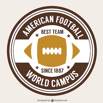 American football retro ball badge