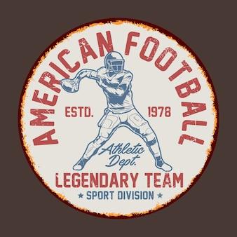 American football retro signs graphic