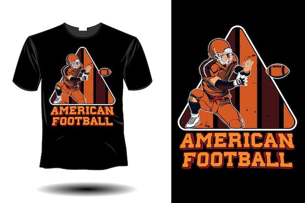 American football retro vintage design