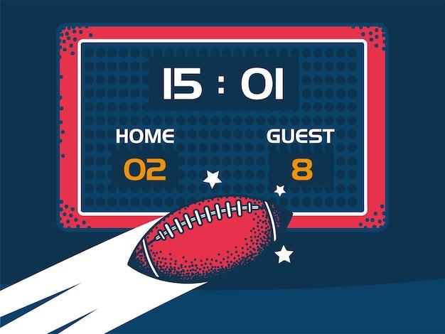 アメリカンフットボールのスコアボードボール