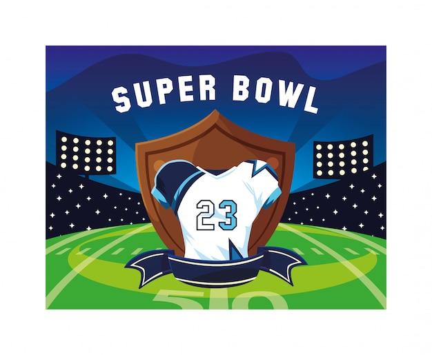 American football shirt with ribbon,