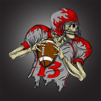 American football skeleton
