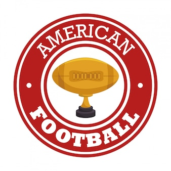 American football sport badge logo