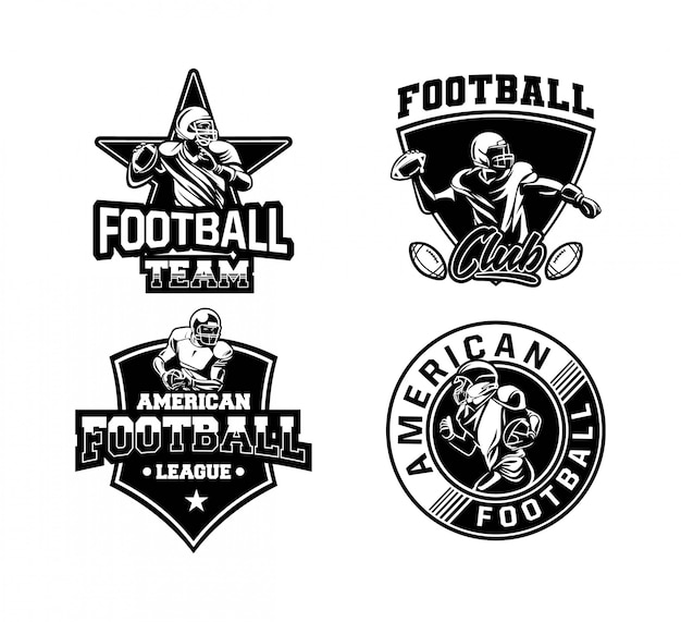 American football sport badge set