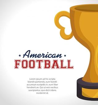 American football sport banner