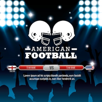 Значок американского футбольного спорта