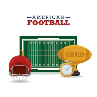 American football sport icon Premium Vector