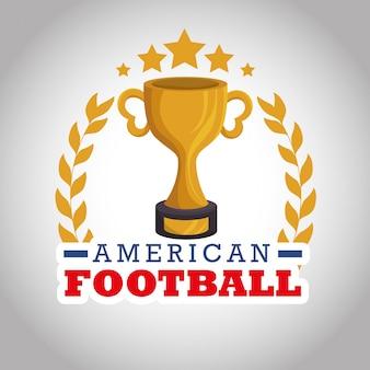 American football sport logo