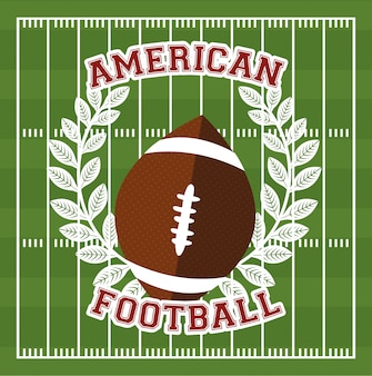 American football sport poster with balloon illustration