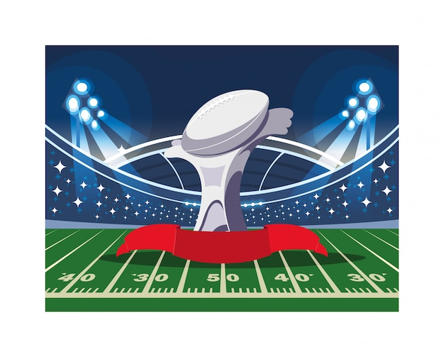 American football sports award in football stadium