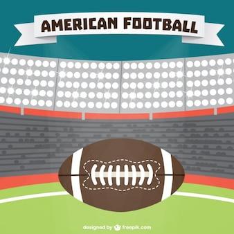 American football stadium background and ball