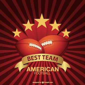 Американский футбол фоне солнечных лучей