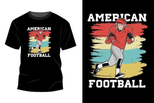 Дизайн макета футболки американского футбола винтажный ретро