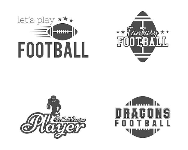 American football team, college badges.