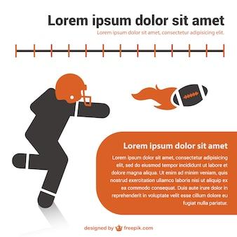 American football template design