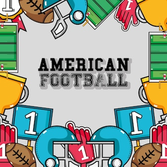 American football tools background design