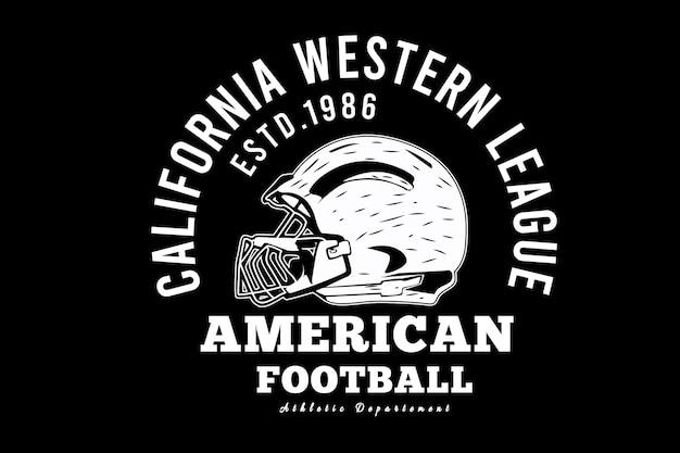 American football typography design