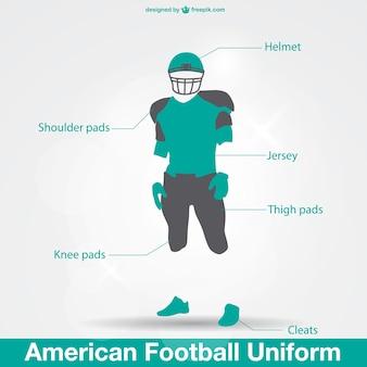 Americano uniforme di calcio