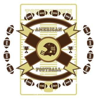 American football vector graphic art design illustration