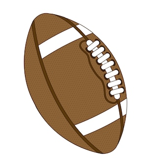 American football over white background vector illustration