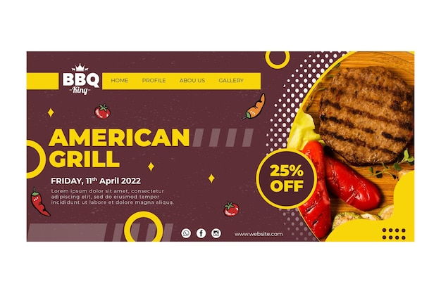 American grill landing page template