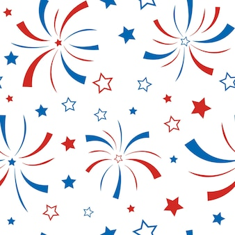 American happy independence day 4th of july vector wallpaper