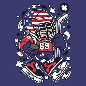 American hockey kid cartoon