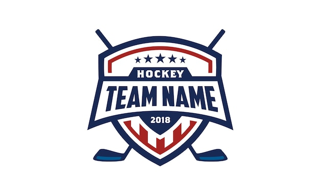 American ice hockey shield badge logo