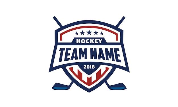 American ice hockey shield badge logo