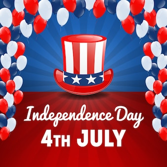 American independence day. 4th of july usa holiday. independence day background. vector illustration
