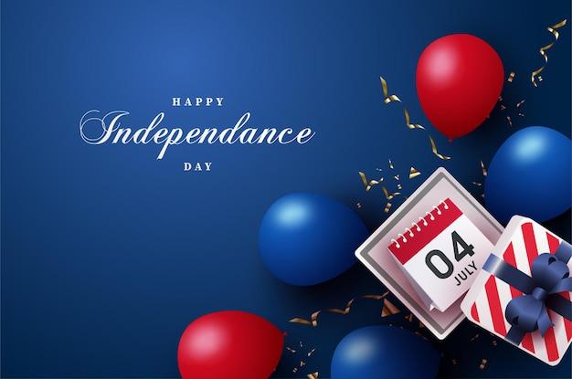 남색에 미국 독립 기념일 카드 7 월 4 일