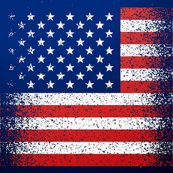 American independence day background with grunge flag