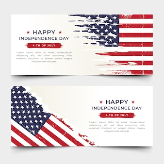 American independence day banner premium vector