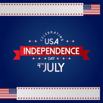 American independence day card with creative design vector