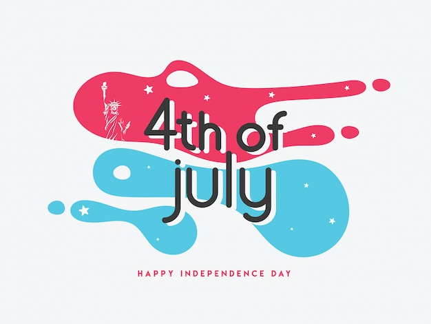 American independence day concept.